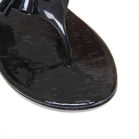 Miss Kg Misty Flat Jelly Sandals In Black Lyst