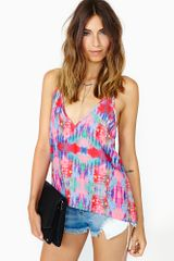 Nasty Gal Blurred Bloom Tank - Lyst