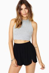 Nasty Gal Riot Crop Top Heather Gray - Lyst