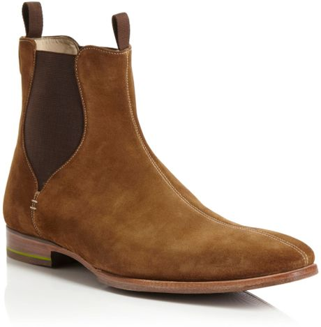 oliver sweeney foxhall chelsea boots in brown for men beige lyst. Black Bedroom Furniture Sets. Home Design Ideas