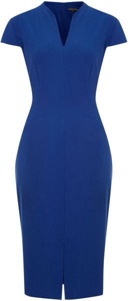 Pied A Terre Cap Sleeve Shift Dress in Blue (Cobalt) - Lyst