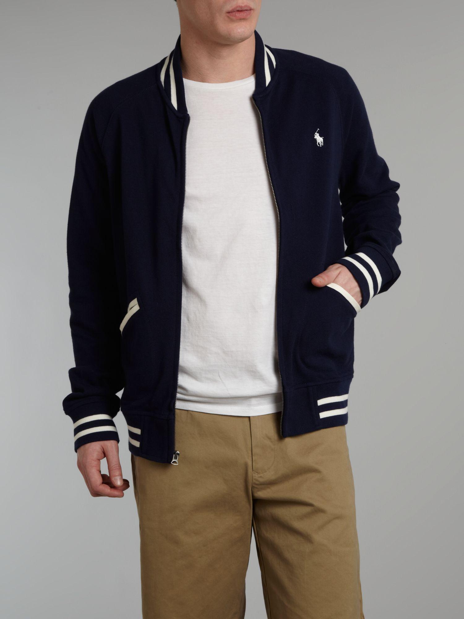 Polo Ralph Lauren Baseball Jacket In Blue For Men Lyst