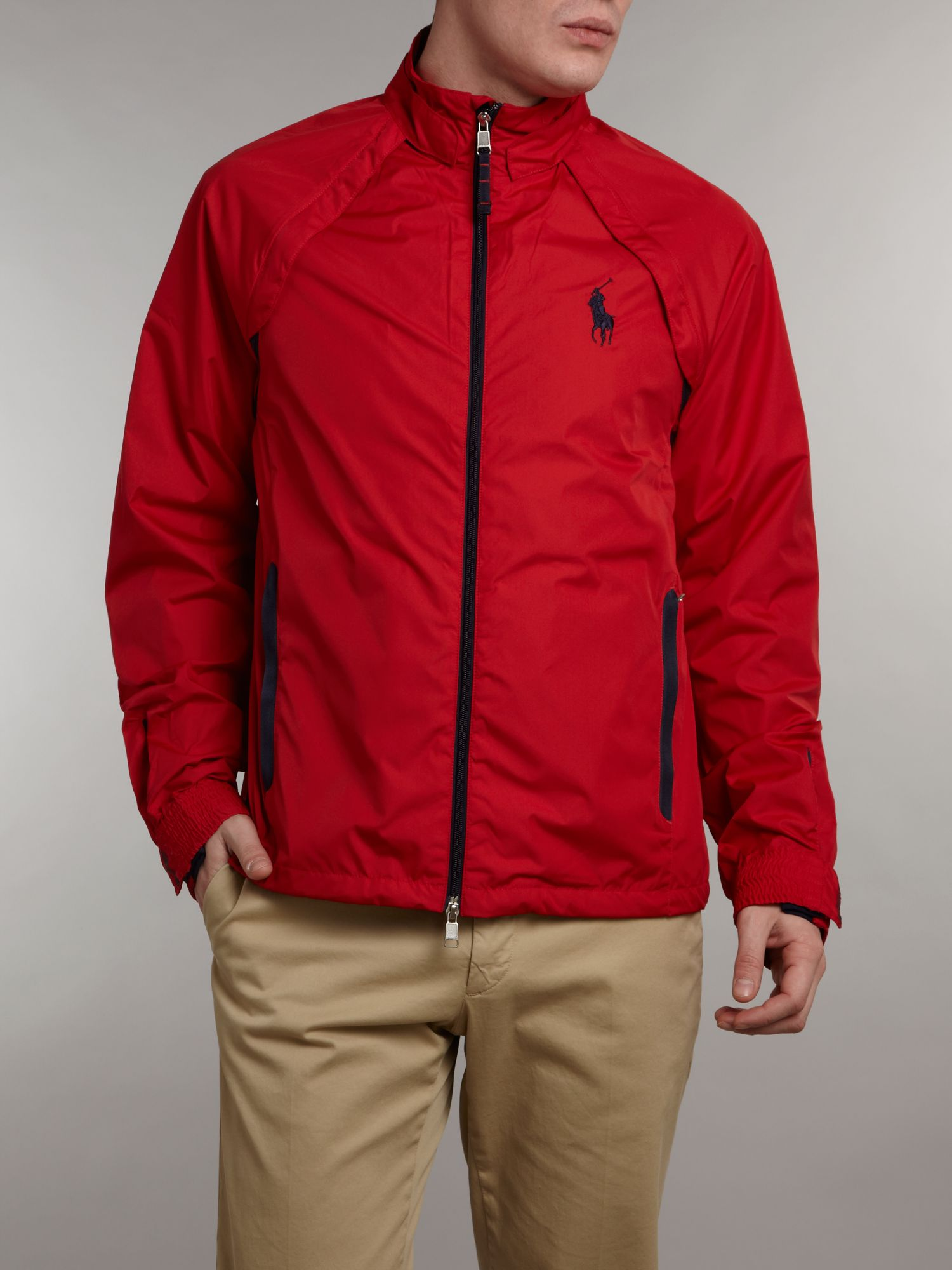 Ralph lauren golf Convertible Golf Windbreaker Jacket in Red for