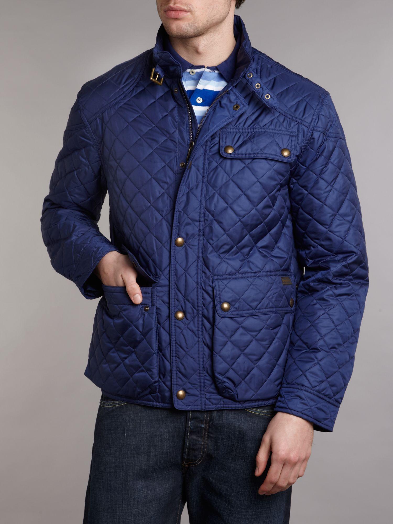 polo ralph lauren quilted jacket in blue for men lyst. Black Bedroom Furniture Sets. Home Design Ideas