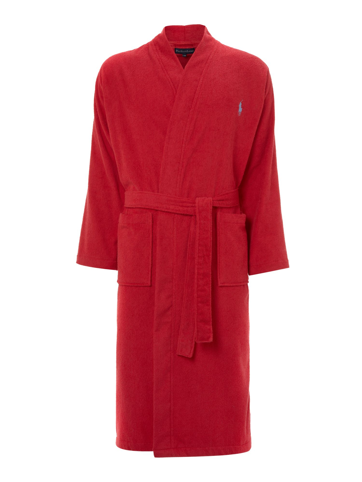 09f4097bf9 Polo Ralph Lauren Terry Night Robe in Red for Men - Lyst