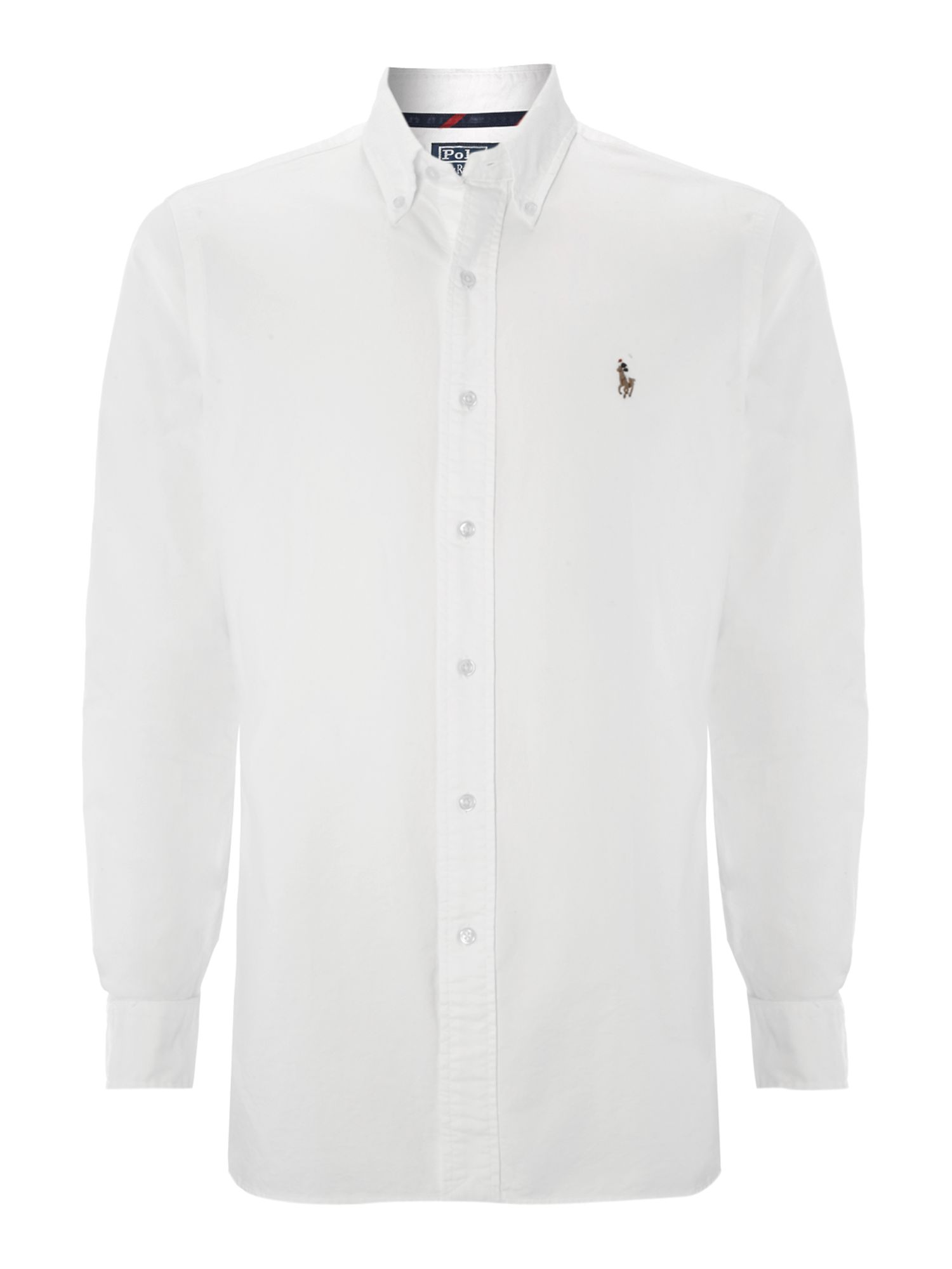 polo ralph lauren long sleeved slim fit oxford shirt in white for men. Black Bedroom Furniture Sets. Home Design Ideas