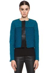 Proenza Schouler Tweed Jacket in Blue - Lyst