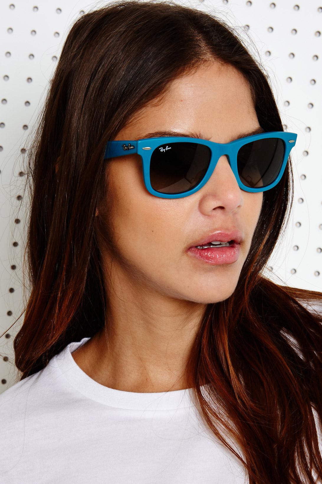 womens ray ban wayfarer sunglasses vc61  women purple ray ban erika sunglasses