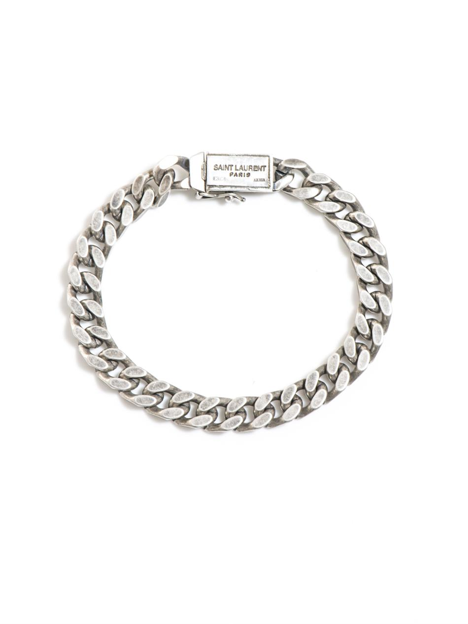 Saint laurent Flat Chain Bracelet in Metallic