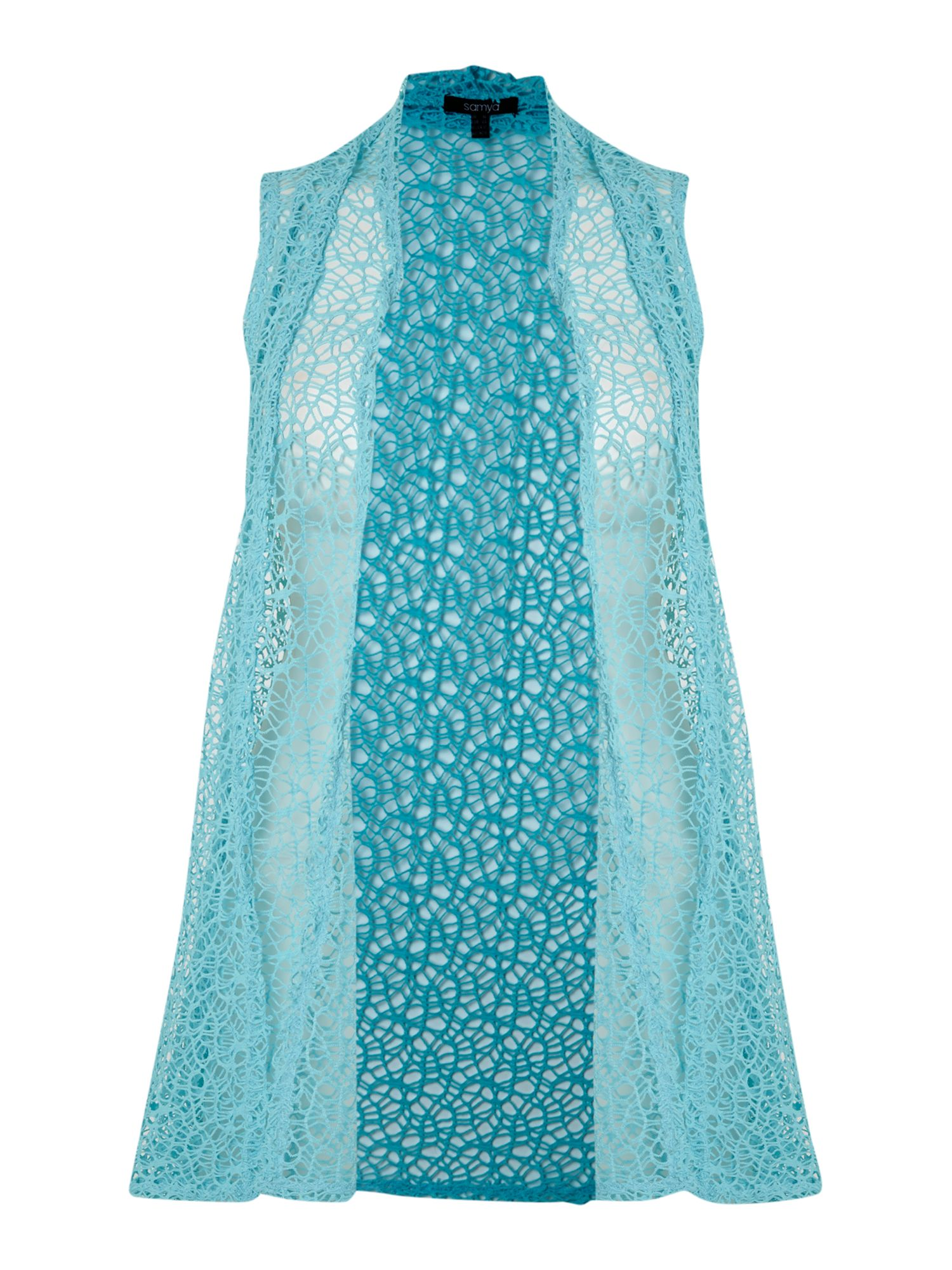 Samya Sheer Cardigan Style Cover Up in Blue | Lyst