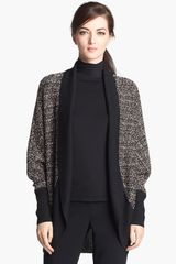 St. John Collection Metallic Ribbon Knit Shrug - Lyst