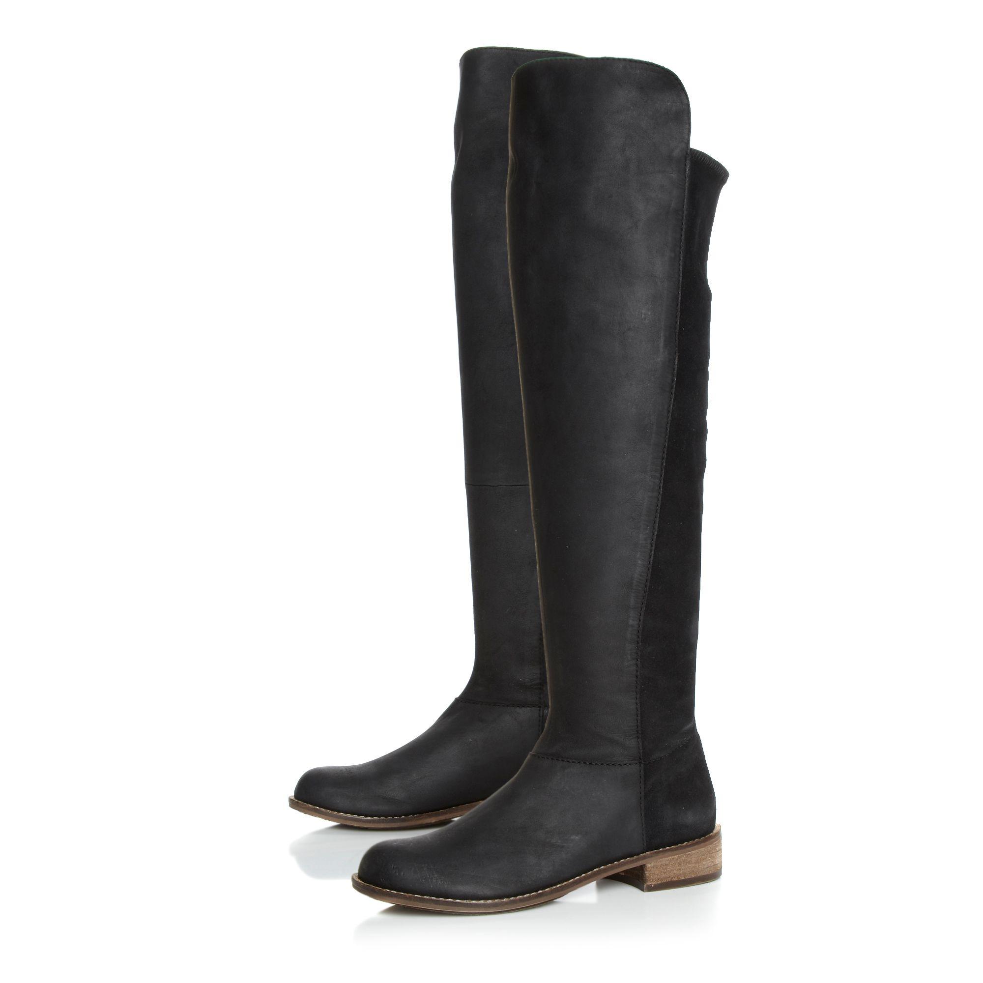 steve madden hazele boots in black lyst. Black Bedroom Furniture Sets. Home Design Ideas