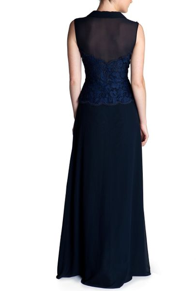 Ted Baker Amerlee Embroidered Maxi Dress In Blue Navy Lyst