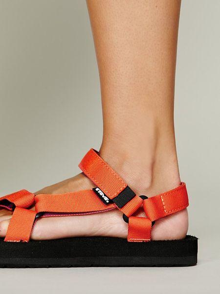 Teva Sandals Orange Hippie Sandals