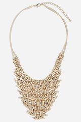 Topshop Metal V Collar Necklace - Lyst