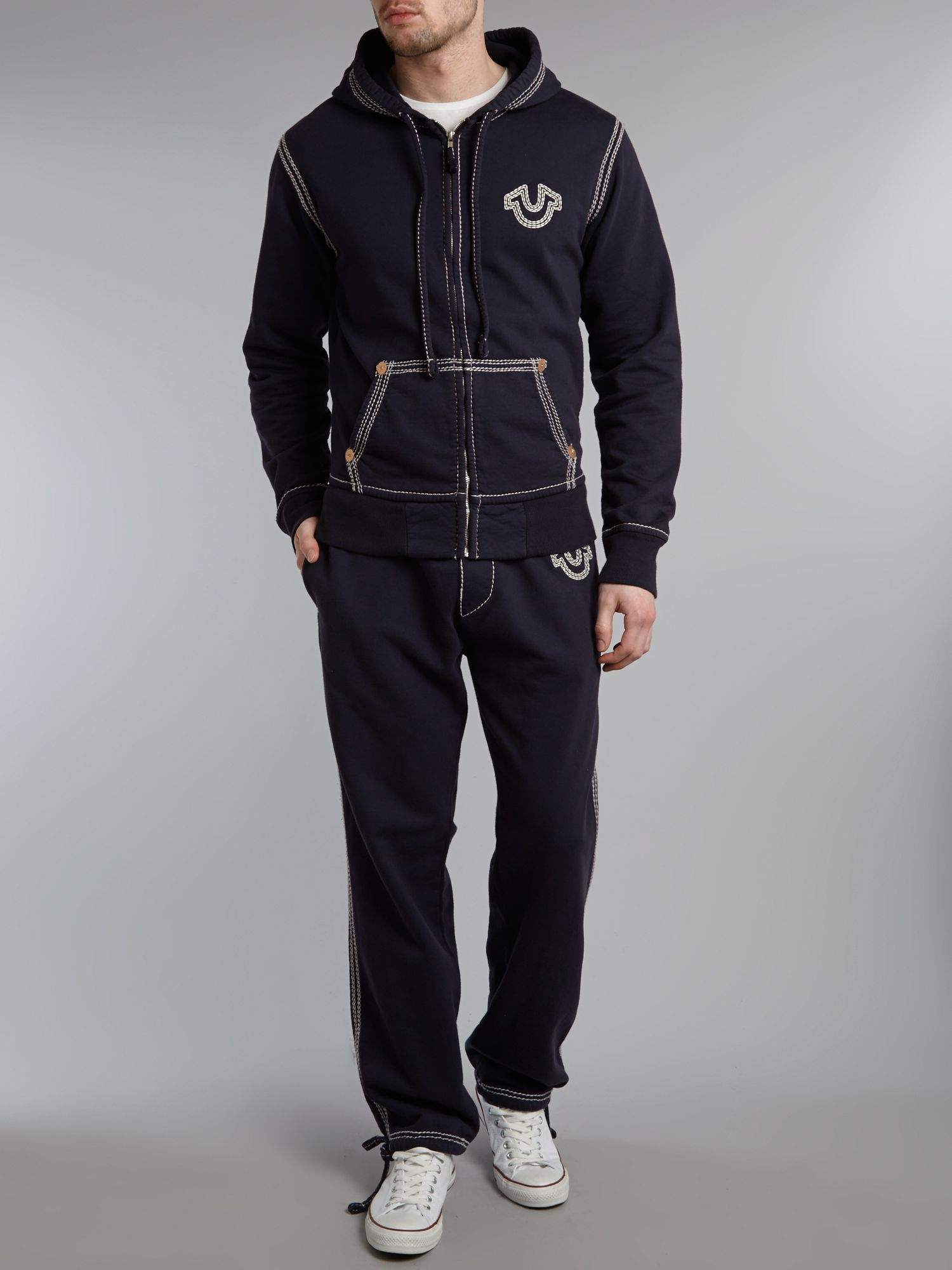 True Religion Drawstring Tracksuit Bottoms With