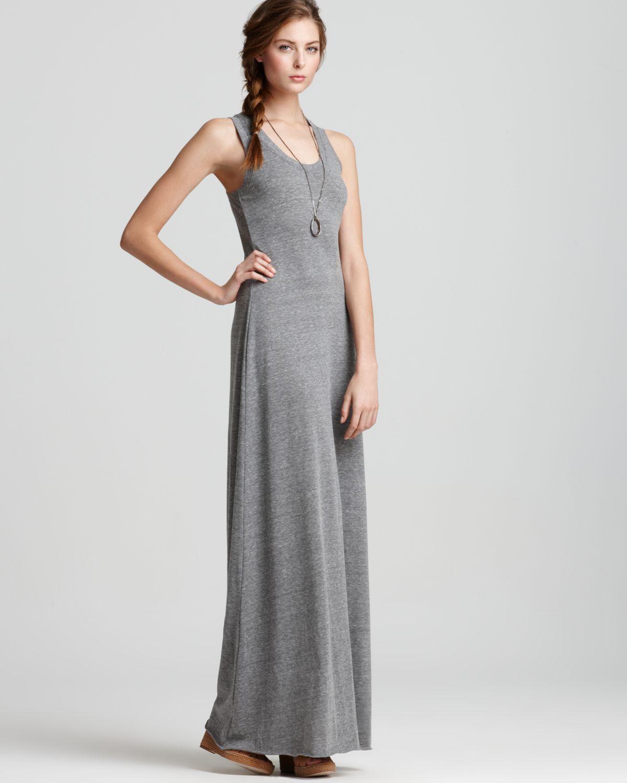 Lyst Alternative Apparel Dress Racerback Maxi Dress In Gray