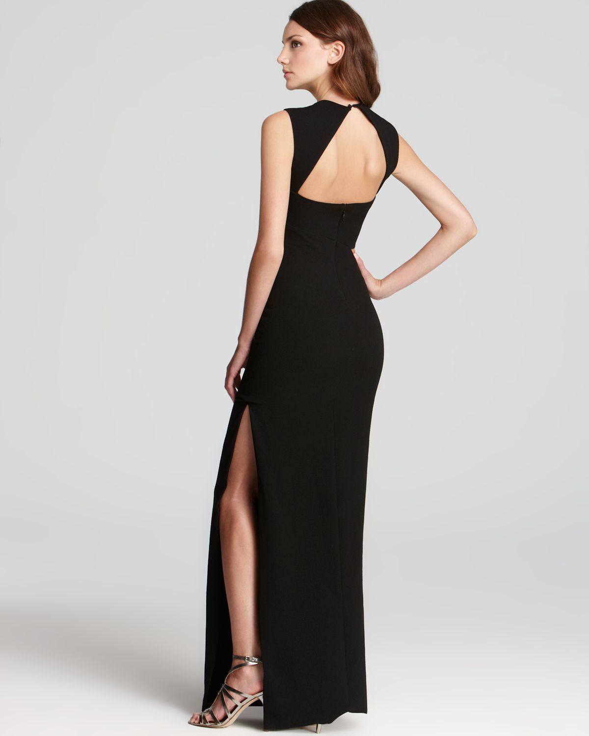 36ef5bc4823 Bcbgmaxazria Gown Sleeveless Cut Out In Black Lyst