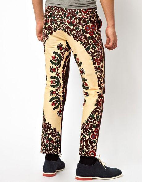 Asos Bite By Dent De Man Floral Print Pants in Red for Men ...