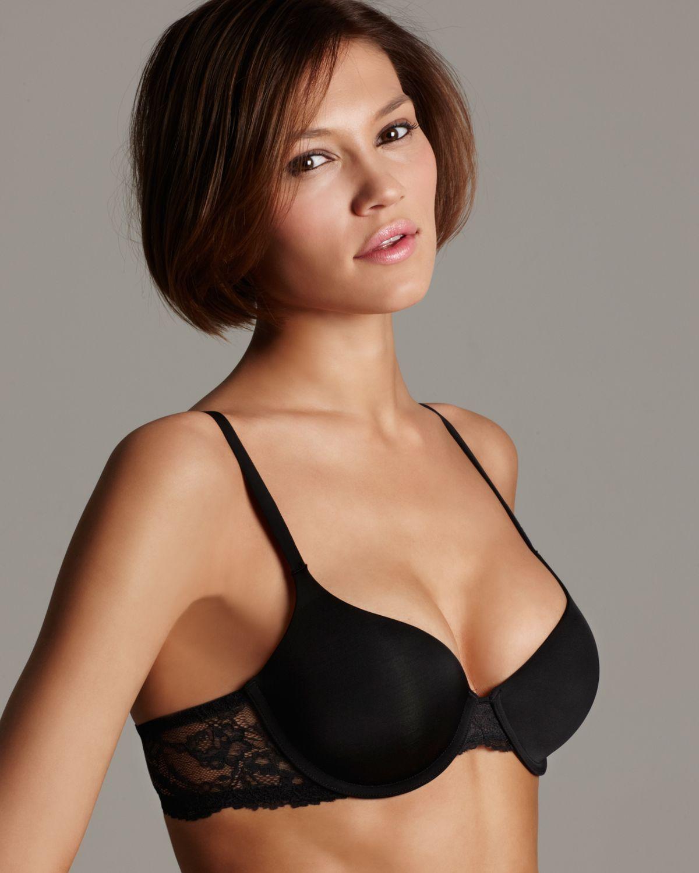 345afac901 Lyst - Calvin Klein Demi Bra Seductive Comfort in Black