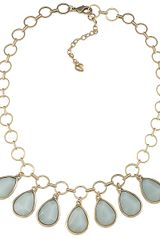 Carolee Goldtone Drop Pendant Necklace - Lyst