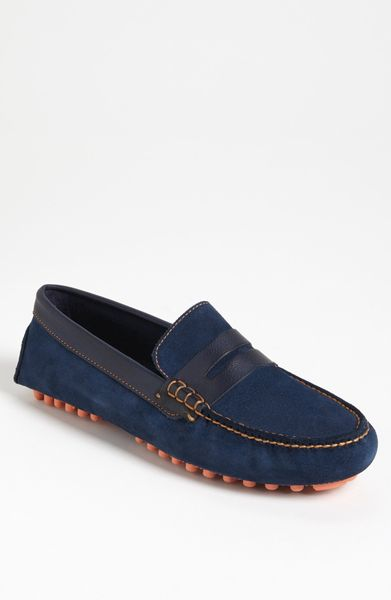 Cole Haan Air Grant Driving Shoe in Blue for Men (blazer blue suede