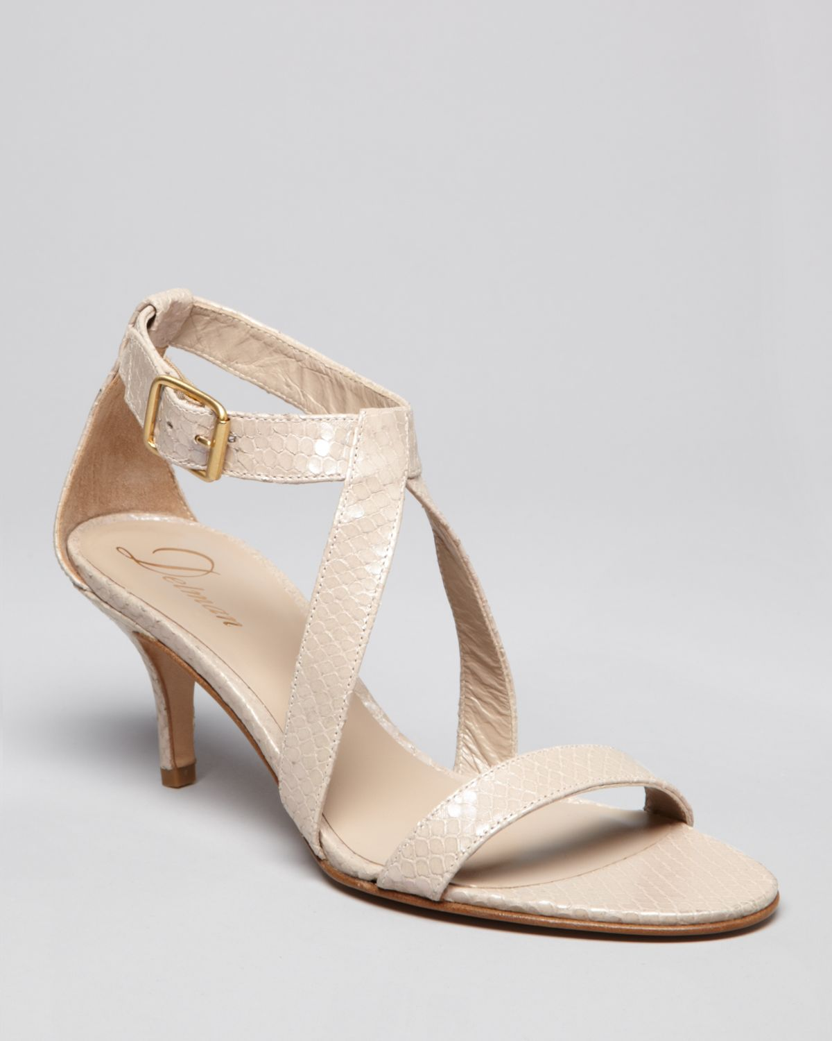 Low Heel Nude Sandals - Is Heel