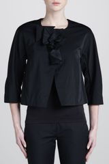 Donna Karan New York Collarless Jacket Black - Lyst