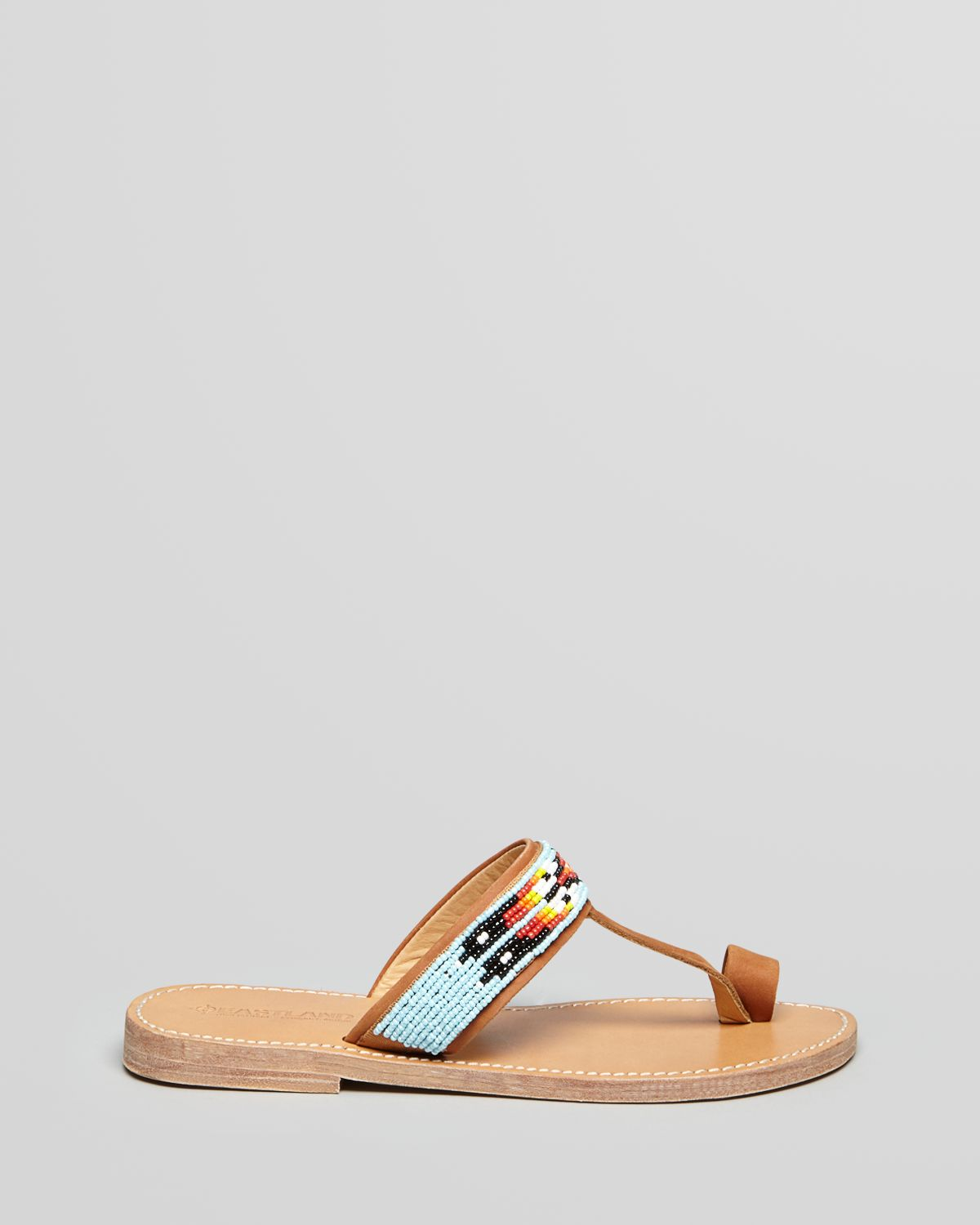 57110ba10936 Eastland 1955 Edition Flat Sandals Hickory Beaded Toe Ring - Lyst