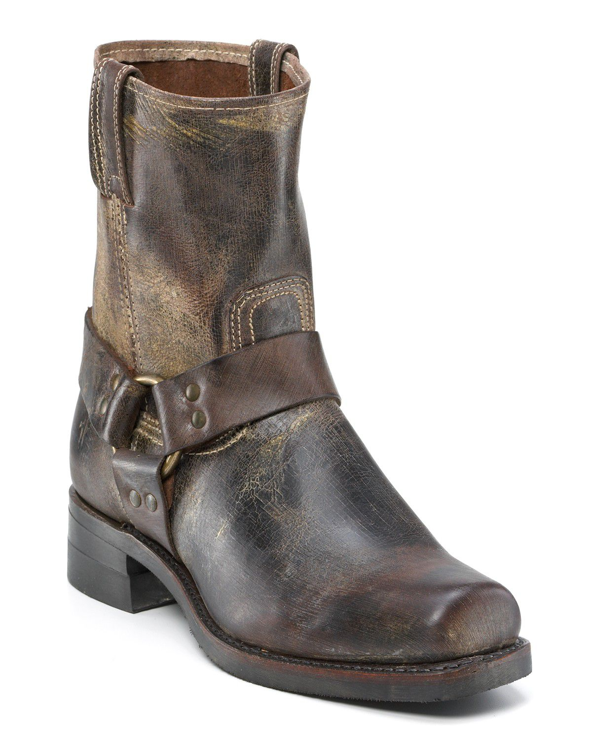 frye mens harness 8r boots in brown for chocolate lyst
