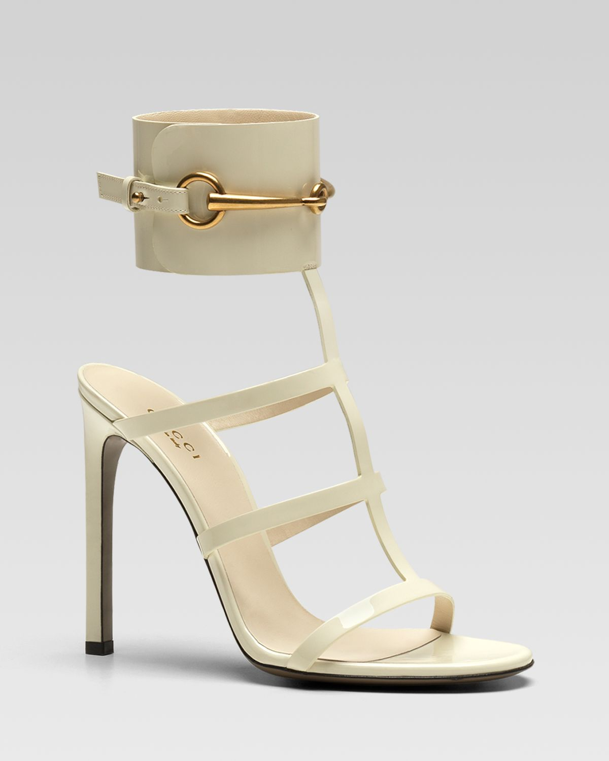 3fbb1aa7f Gucci Ursula Cage High Heel Sandal in White - Lyst