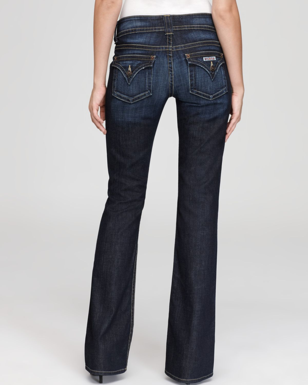 bbd31d08ac8 Hudson Jeans Petite Signature Flap Pocket Bootcut Jeans In Elm Wash ...