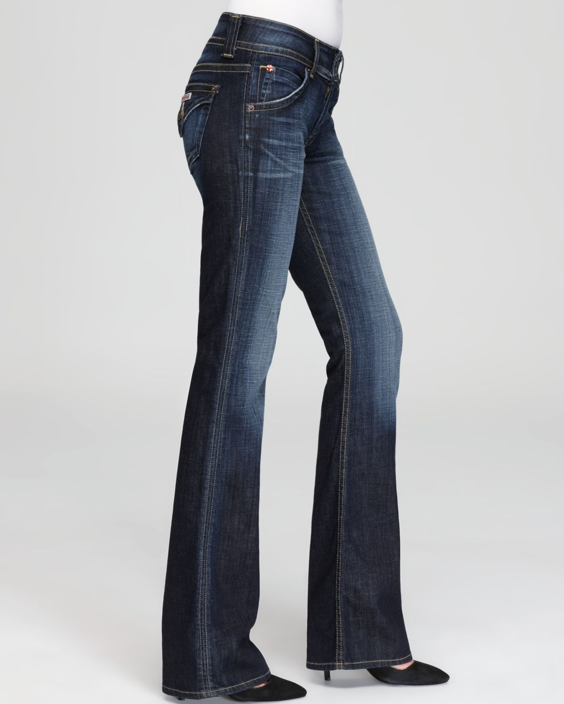 Hudson jeans Petite Signature Flap Pocket Bootcut Jeans In Elm ...