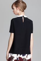 Marc By Marc Jacobs Top Alex Silk Crepe De Chine in Black (Black Multi) - Lyst