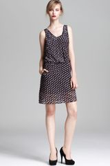 Marc By Marc Jacobs Dress Puzzle Print Devore Velvet - Lyst