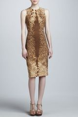 Michael Kors Ponyprinted Sheath Dress - Lyst