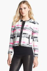Milly Harper Crop Jacket - Lyst