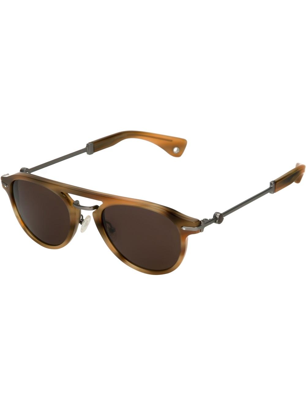 b65d9422d30 Lyst - Moncler Mc503 Sunglasses in Brown