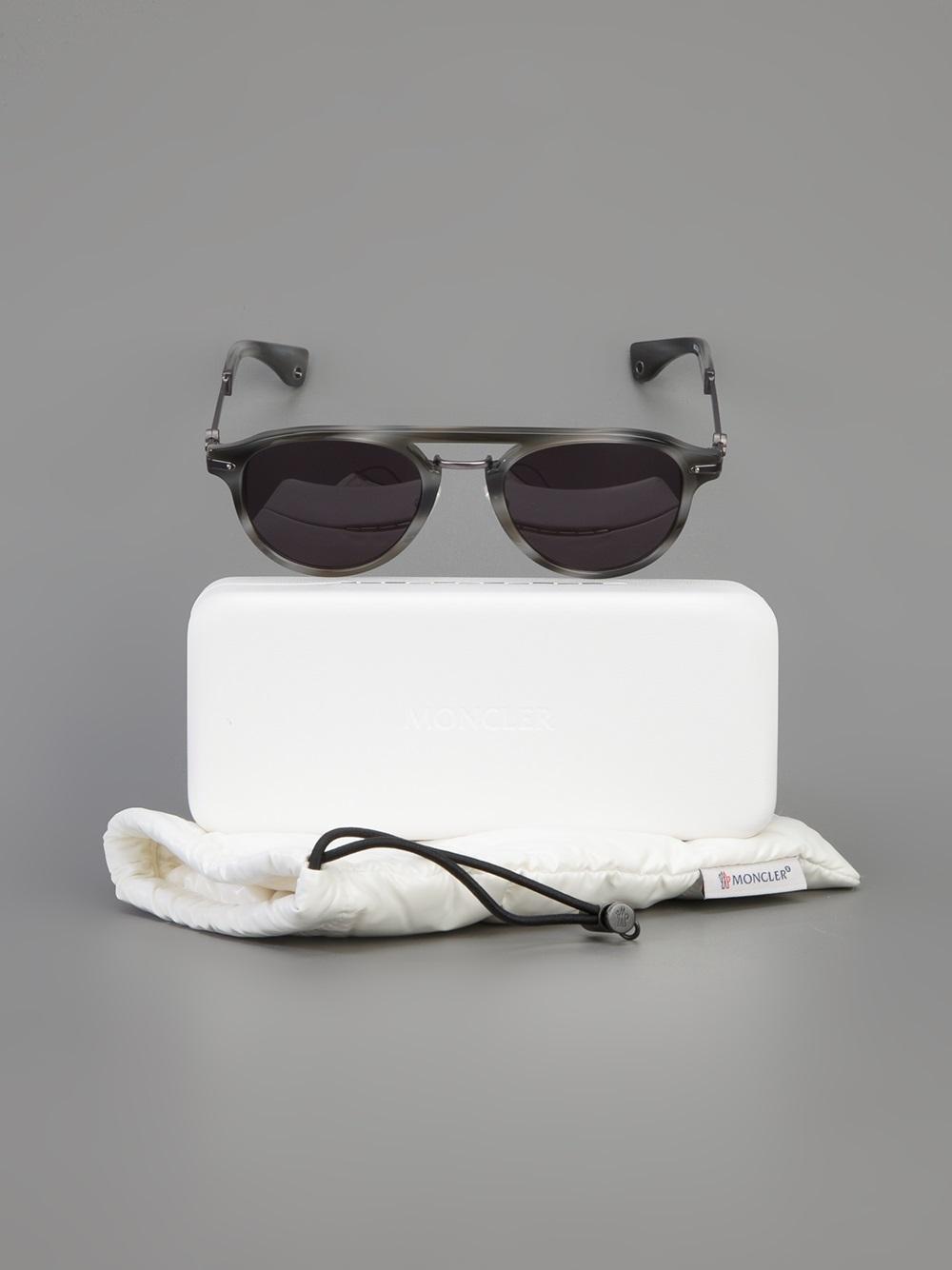 4f69e36214e Lyst - Moncler Mc503 Sunglasses in Gray for Men
