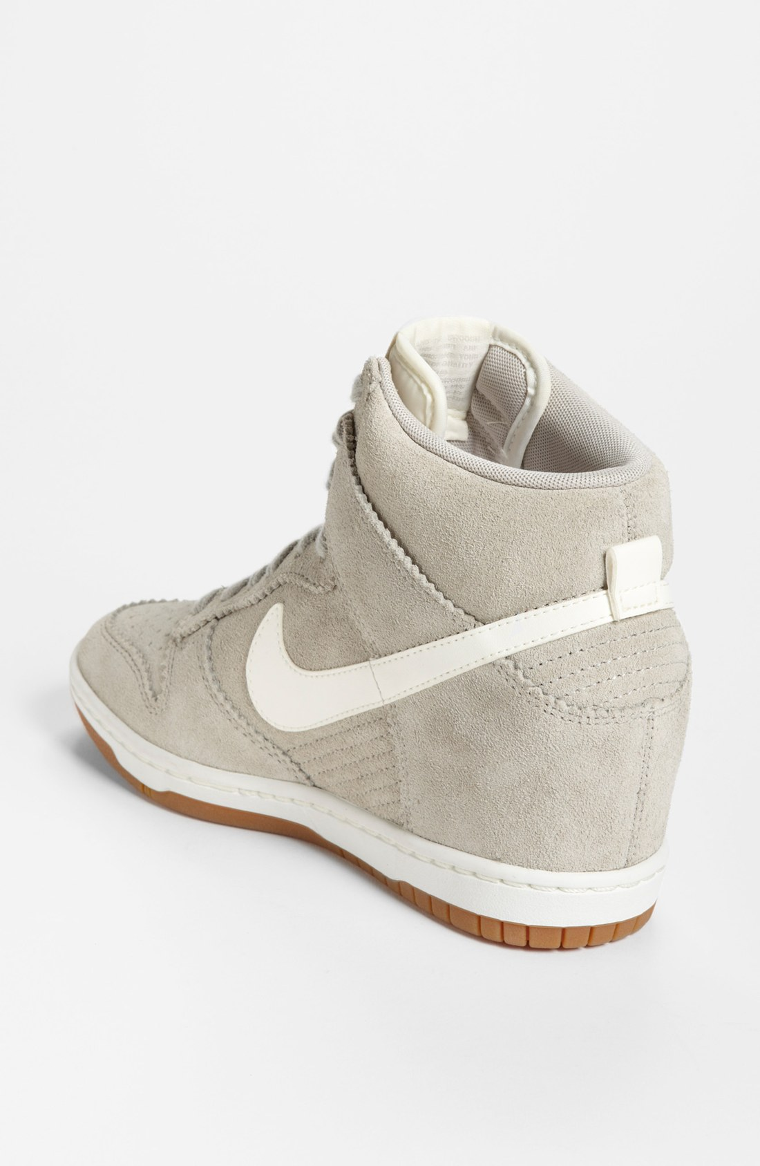 nike dunk sky hi wedge sneaker in gray lyst. Black Bedroom Furniture Sets. Home Design Ideas