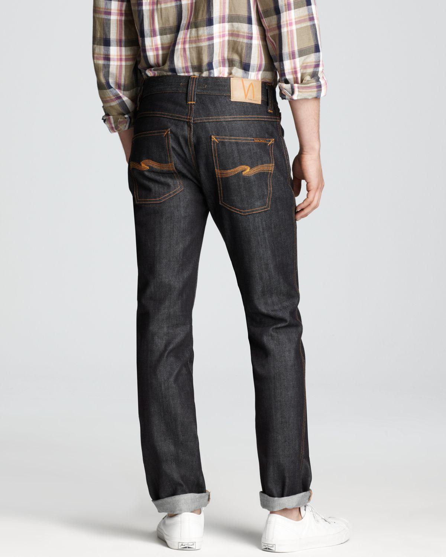 Lyst - Nudie Jeans Slim Jim Slim Straight Fit in Dry Broken Twill ... 2dfcbb089