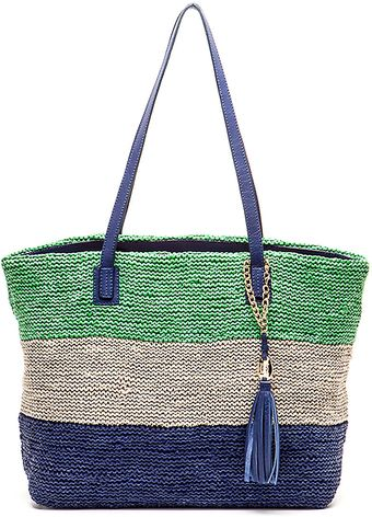 Olivia Harris Colombier Knit Leather Tote - Lyst