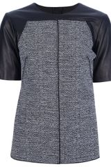 Proenza Schouler Leather Sleeve Top - Lyst