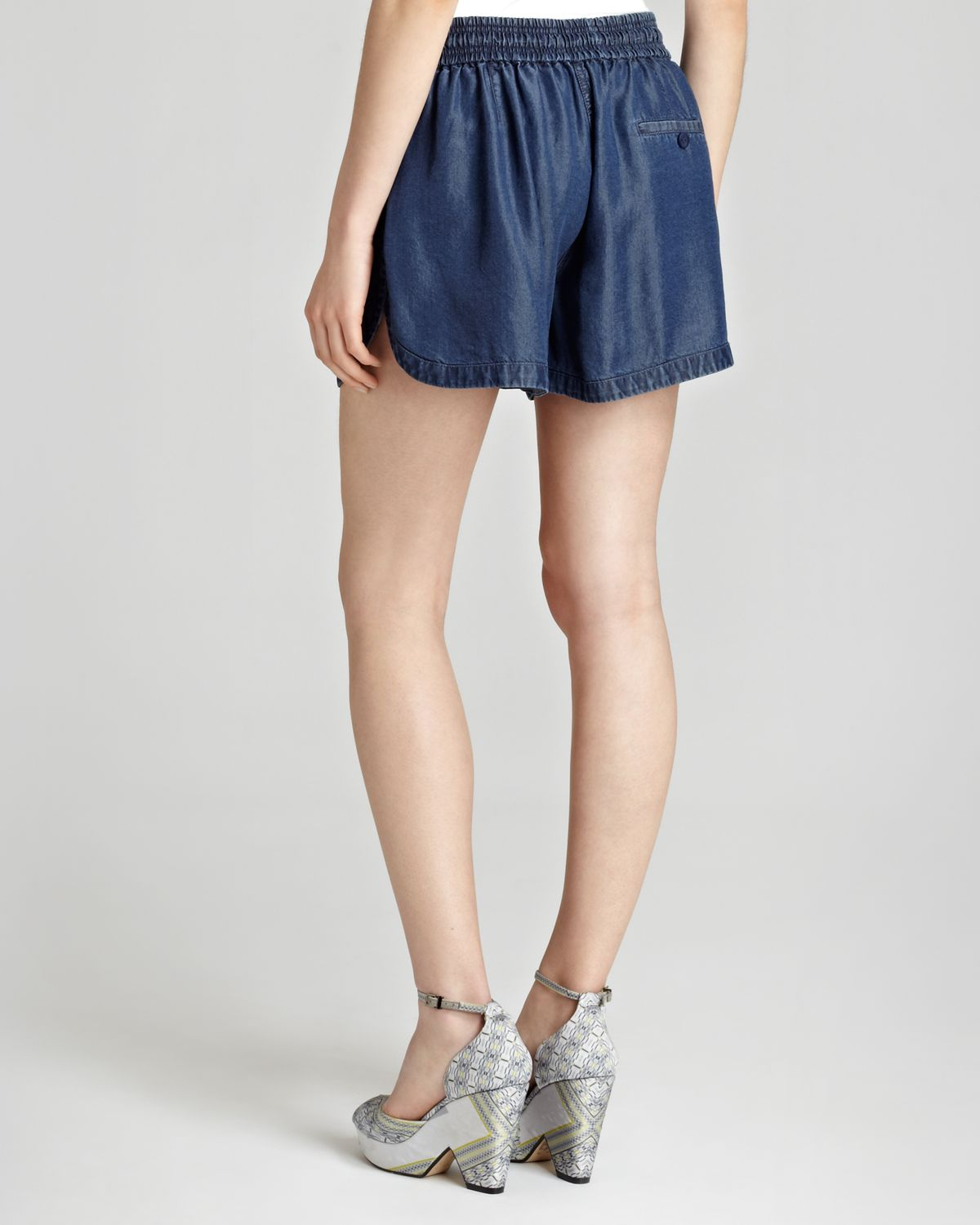 Reiss Katya Soft Athletic Shorts in Blue | Lyst