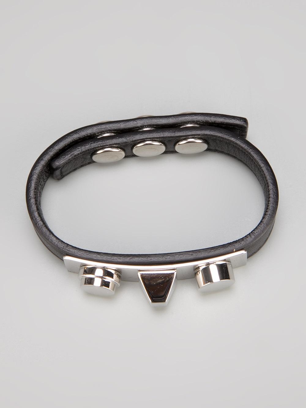 Saint laurent Studded Bracelet in Black