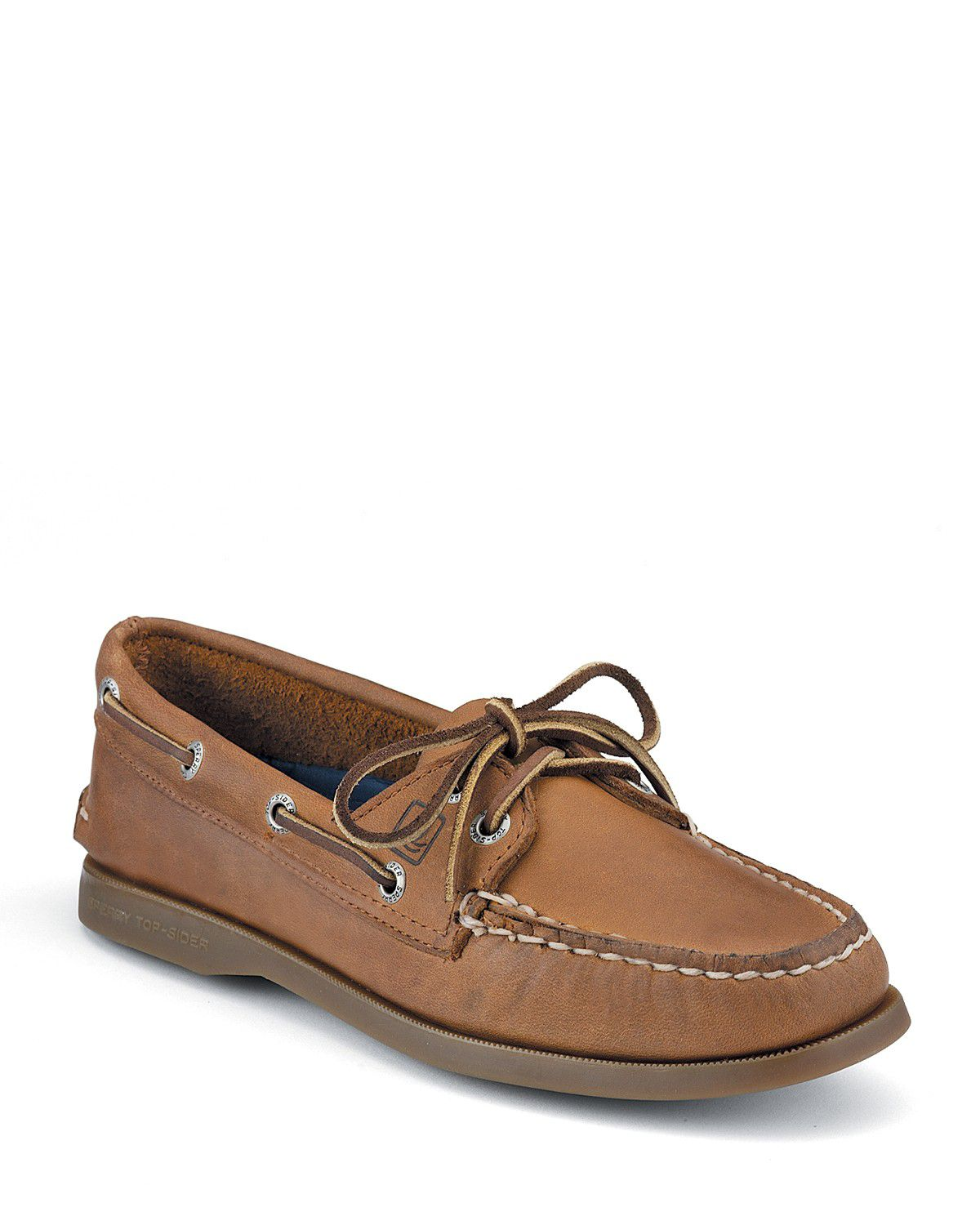 sperry top sider quot a o quot 2 eye lace leather boat shoes in