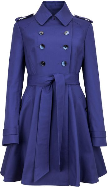 Ted Baker Moriah Double Breasted Coat in Purple