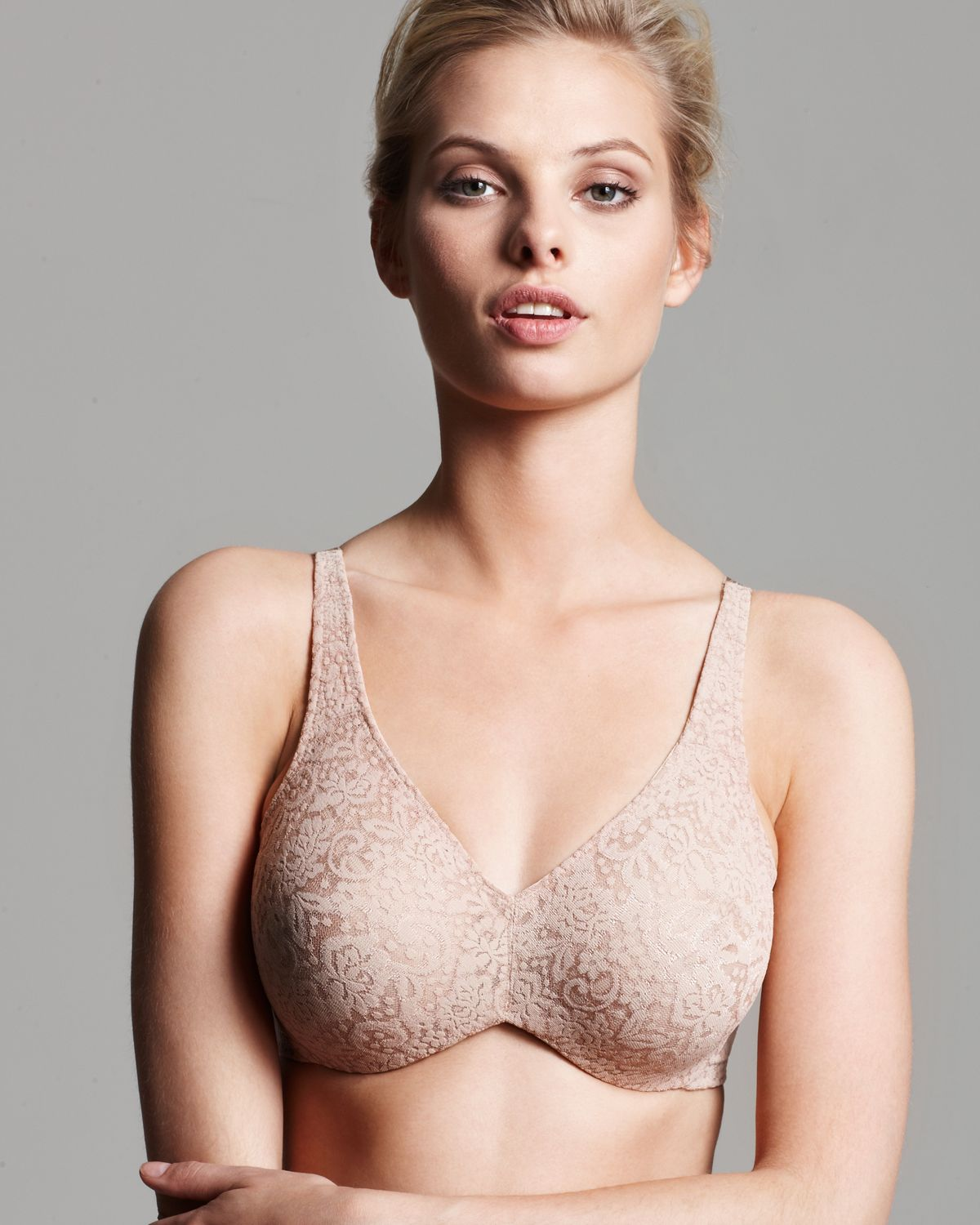 6cb904e2261cb Lyst - Wacoal Bra - Halo Lace Full Coverage Unlined Underwire  65547 ...