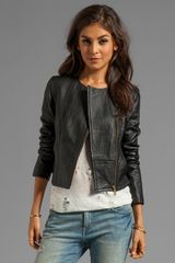 Alice By Temperley Tatami Leather Jacket in Black - Lyst