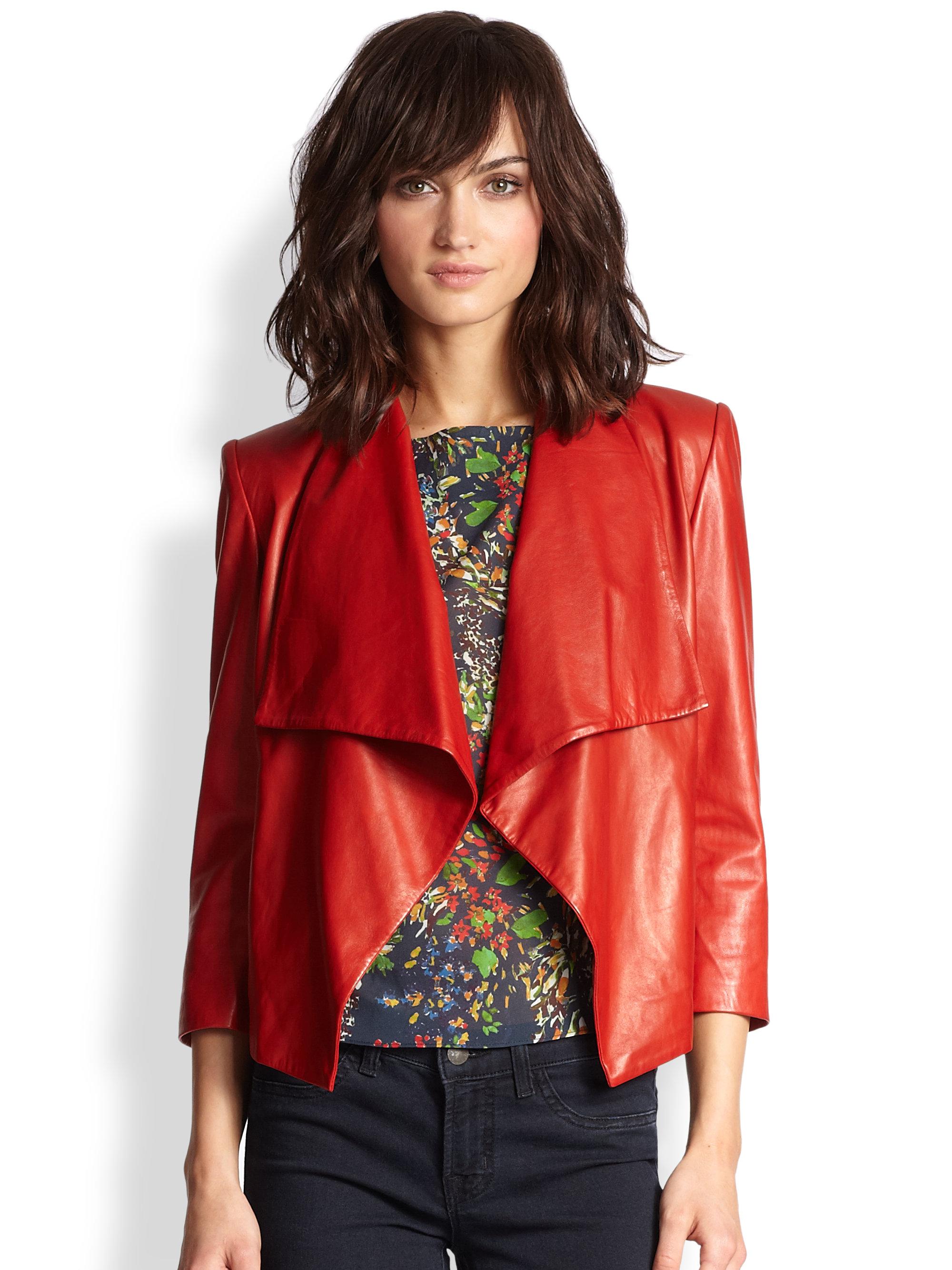 Alice and olivia leather jacket